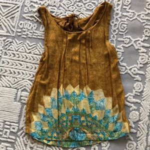 Anthropologie colorful tank top
